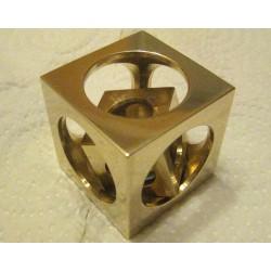 Bronze cube in a cube